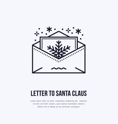 christmas letter to santa claus new year party vector image vector image