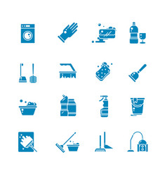 Cleaning products and services silhouette vector