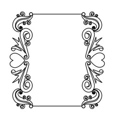 Decorative card romantic frame floral border cute vector