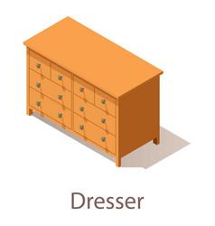 Dresser icon isometric style vector
