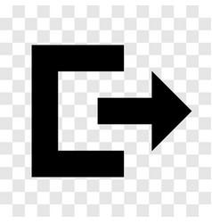 exit icon - iconic design vector image