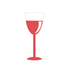 glass red wine icon on white vector image