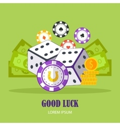 Good luck concept banner in flat design vector