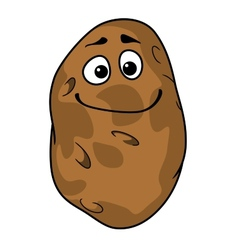 Goofy cartoon farm fresh potato vector