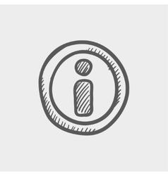 Gps eye sketch icon vector