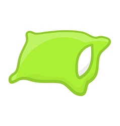 green pillow vector image