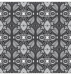 grey geometry vintage floral seamless pattern vector image