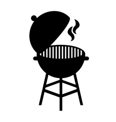 Grill hot isolated silhouette icon vector