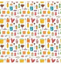 House cleaning tools seamless pattern vector