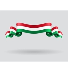 Hungarian wavy flag vector