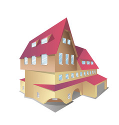 icon of isometric house vector image