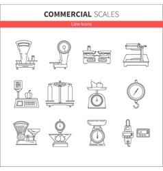Kitchen scales icon vector