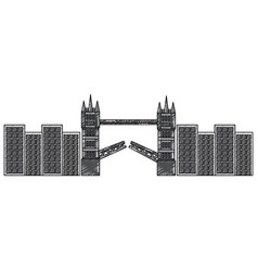 London bridge building urban city landmark vector