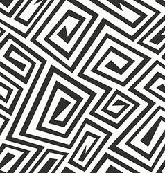 monochrome retro spiral seamless texture vector image vector image