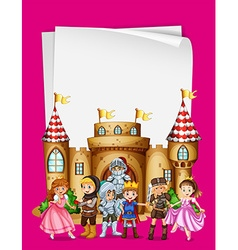Paper design with characters from fairytales vector image