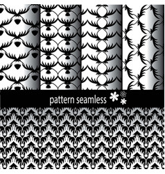 Pattern classic black patterned vector