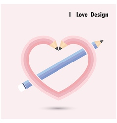Pencil heart shape vector