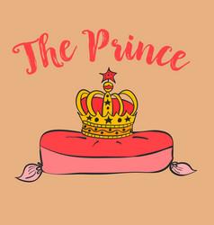 Prince crownn elegant hand draw vector