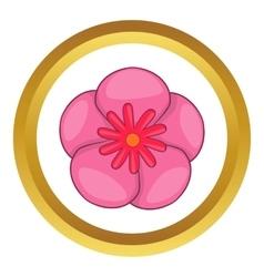 Rose of sharon korean flower icon vector