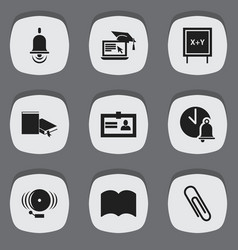 Set of 9 editable science icons includes symbols vector