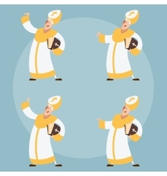 Set of Catolic Popes vector image vector image