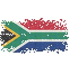 South Africa grunge tile flag vector image