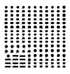 Speech bubbles black silhouettes vector image