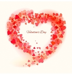 Valentine Day beautiful background vector image vector image