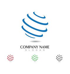 wire world logo template vector image vector image