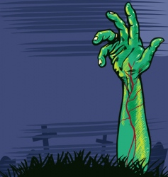zombie hand vector image vector image