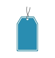 Label blue tag banner icon graphic vector