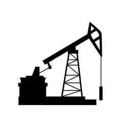 Manufacture production oil platform isolated vector