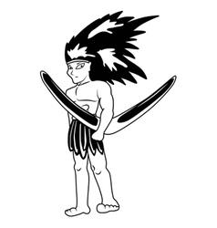 Aboriginal cartoon vector image