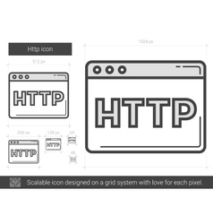 Http line icon vector