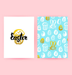 Easter 80s style posters vector