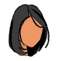 Head female hair style modern vector