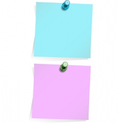 Adhesive notes isolated on white vector