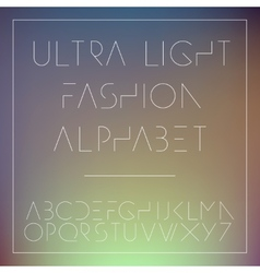 Light fashion alphabet letters collection vector