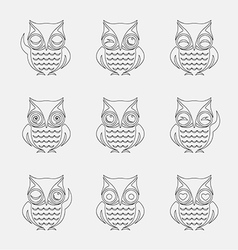Group of owls vector