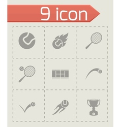 Tennis icon set vector