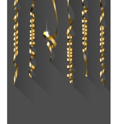 Party background with gold streamers vector