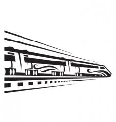 rapid train vector image