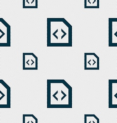 Programming code icon sign seamless pattern with vector
