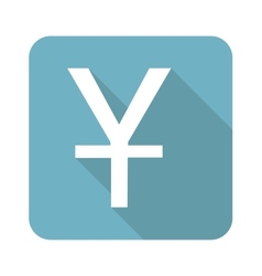 Square yen icon vector