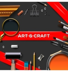 Art and crafts template vector