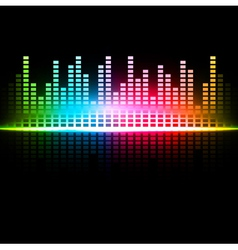 Multicolored abstract sound background vector