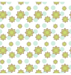 Succulent green and purple seamless pattern vector