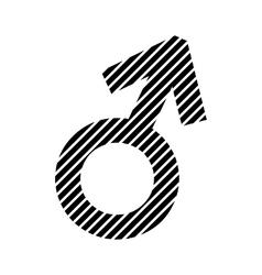 Gender male symbol sign vector