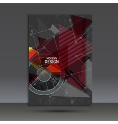 Brochure template with abstract geometric design vector