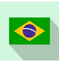 Flag of brazil icon flat style vector